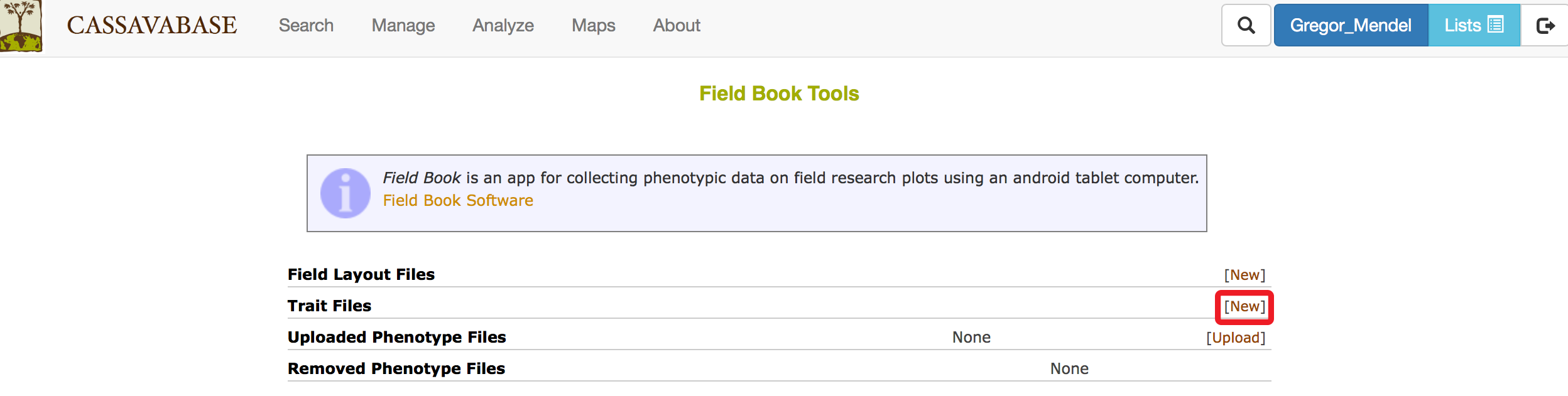 3 9 Using Field Book App | SGN Documentation